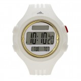 Adidas Performance ADP3141 Questra LCD Dial White Resin Strap Unisex Watch (White & Gold)