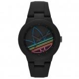 ADIDAS ADH3014 Aberdeen Blacke Dial Black Rubber Strap Unisex Quartz Watch (Multicolor)