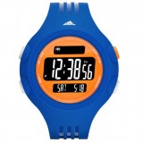 Adidas Performance ADP3139 Questra Black Dial Blue Resin Strap Unisex Watch (Blue, Black & Orange)