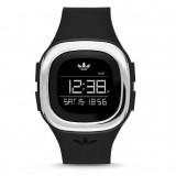 ADIDAS ADH3033 Denver Black Dial Black Rubber Strap Unisex Digital Quartz Watch (Black & Silver)