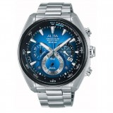 Alba Sign-A Shaheizy Sam series Men's Stainless Steel Strap Watch AU2185X1 (Black & Blue)