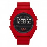 Adidas Originals ADH2909 Santiago XL Dial Red Resin Strap Watch (Red)