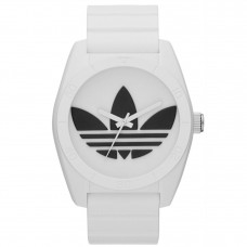 ADIDAS ADH2981 Santiago White Dial White Rubber Strap Unisex Quartz Watch (White & Black)