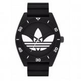 Adidas ADH2967 Santiago XL Black Dial Black Resin Strap Unisex Quartz Watch (Black)