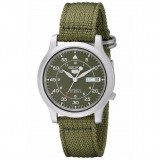 Seiko 5 Military SNK805K2 Automatic See-thru Back Green Nylon Strap Watch (Military Green)