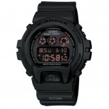 (OFFICIAL MALAYSIA WARRANTY) Casio G-SHOCK DW-6900MS-1 Black Resin Red LCD Standard Digital Watch (Polis Evo)