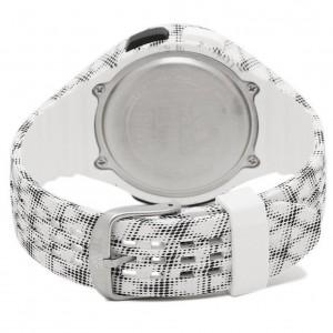 Adidas Performance ADP3244 Uraha LCD Dial Black / White Resin Strap Unisex Watch (Black & White)