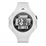 Adidas Performance ADP6083 Questra LCD Dial White Resin Strap Unisex Watch (White)