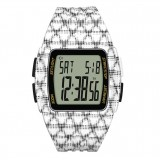 Adidas Performance ADP3245 Duramo LCD Dial Black / White Resin Strap Unisex Watch (Black & White)
