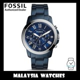 (OFFICIAL WARRANTY) Fossil Men's FS5230 Grant Chronograph Blue-Tone Stainless Steel Watch (2 Years Fossil Warranty)