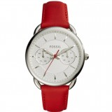 Fossil Women's ES4122 Tailor Multifunction Red Leather Watch (Red)