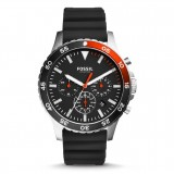 Fossil Men's CH3057 Crewmaster Sport Chronograph Black Silicone Watch (Black)