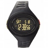 Adidas Performance ADP6133 Adizero Black Dial Black Resin Strap Unisex Watch (Black)