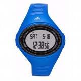 Adidas Performance ADP6108 Adizero Black Dial Blue Resin Strap Unisex Watch (Black & Blue)