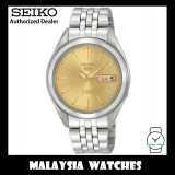 Seiko 5 SNKL21K1 Automatic See-thru Back Yellow Dial Gold Tone Hands Stainless Steel Bracelet Gents Watch