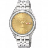Seiko 5 SNKL21K1 Automatic Gents Stainless Steel Watch (Silver & Yellow)