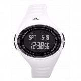 Adidas Performance ADP6107 Adizero Black Dial White Resin Strap Unisex Watch (Black & White)