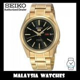Seiko 5 SNKL50K1 Automatic See-thru Back Black Dial Gold-Tone Stainless Steel Bracelet Gents Watch
