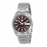Seiko 5 SNKL53K1 Automatic Gents Stainless Steel Watch (Silver & Brown)