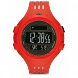 Adidas Performance ADP6084 Questra Black Dial Red Resin Strap Unisex Watch (Black & Red)