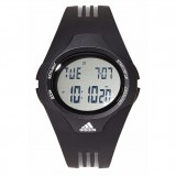 Adidas Performance ADP6007 Uraha LCD Dial Black Resin Strap Unisex Watch (Black)