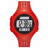 Adidas Performance ADP6088 Questra LCD Dial Red Resin Strap Unisex Watch (Red)
