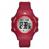 Adidas Performance ADP3286 LCD Dial Red Resin Strap Unisex Watch (Red)