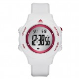 Adidas Performance ADP3285 LCD Dial White Resin Strap Unisex Watch (White & Red)