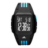 Adidas Performance ADP6040 Duramo LCD Dial Black Resin Strap Unisex Watch (Black & Blue)