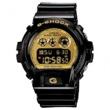 (OFFICIAL MALAYSIA WARRANTY) Casio G-SHOCK DW-6900CB-1 Black Resin LCD Standard Digital Watch (Black & Gold)