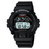 (OFFICIAL MALAYSIA WARRANTY) Casio G-SHOCK G-6900-1 Black Resin LCD Standard Digital Tough Solar Watch (Black)