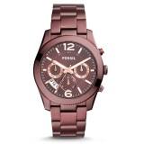 Fossil Women's ES4110 Perfect Boyfriend Multifunction Wine Stainless Steel Watch (Wine / Maroon)