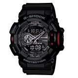 (OFFICIAL MALAYSIA WARRANTY) Casio G-SHOCK GA-400-1B Black & Red Men's Resin Watch (Black &Red)