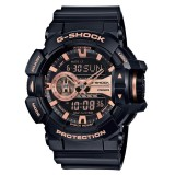 (OFFICIAL MALAYSIA WARRANTY) Casio G-SHOCK Special Color Model GA-400GB-1A4 Black & Rose Gold Men's Resin Watch