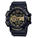 (OFFICIAL MALAYSIA WARRANTY) Casio G-SHOCK Special Color Model GA-400GB-1A9 Black & Gold Men's Resin Watch