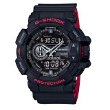 (OFFICIAL MALAYSIA WARRANTY) Casio G-SHOCK Vampire Special Color Model GA-400HR-1A Black & Red Men's Resin Watch