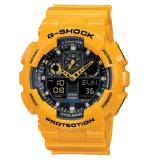 (OFFICIAL MALAYSIA WARRANTY) Casio G-SHOCK GA-100A-9A BUMBLEBEE Analog & Digital Men's Resin Watch (Yellow & Black)