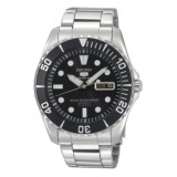 Seiko 5 Sports SNZF17K1 Gents Automatic 100m Watch (Black & Silver)