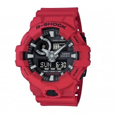 (OFFICIAL MALAYSIA WARRANTY) Casio G-SHOCK GA-700-4A Standard Analog & Digital Men's Resin Watch (Red & Black)
