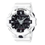 (OFFICIAL MALAYSIA WARRANTY) Casio G-SHOCK GA-700-7A Standard Analog & Digital Men's Resin Watch (White & Black)