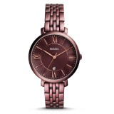 Fossil Women ES4100 Jacqueline Three Hand Date Wine Stainless Steel Watch (Wine)