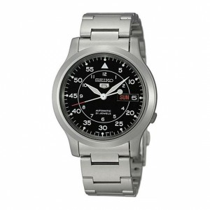 Seiko 5 Military SNK809K1 Automatic See-thru Back Stainless Steel Watch (Silver)