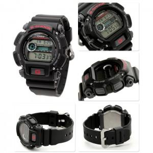 (OFFICIAL MALAYSIA WARRANTY) Casio G-SHOCK DW-9052-1 Black Resin LCD Standard Digital Watch (Black)