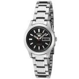 Seiko 5 SYMD95K1 Automatic 21 Jewels Ladies Stainless Steel Watch (Silver & Black)