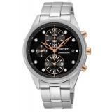 Seiko Ladies Chronograph Stainlees Steel Watch SNDV99P1