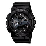 (OFFICIAL MALAYSIA WARRANTY) Casio G-SHOCK GA-110-1B Matte Black Standard Analog-Digital Men's Resin Watch (Black)