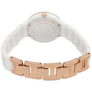 Fossil Women CE1082 Virginia Ceramic White Watch (White and Rose Gold)