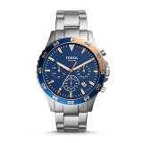 Fossil Men's CH3059 Crewmaster Sport Chronograph Stainless Steel Watch (Silver)