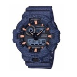 (OFFICIAL MALAYSIA WARRANTY) Casio G-SHOCK GA-700DE-2A LIMITED Models Denim Series Men's Resin Watch (Blue)
