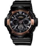 (OFFICIAL MALAYSIA WARRANTY) Casio G-SHOCK GA-200RG-1A SPECIAL COLOUR MODEL Analog-Digital Men's Resin Watch (Rose Gold & Black)